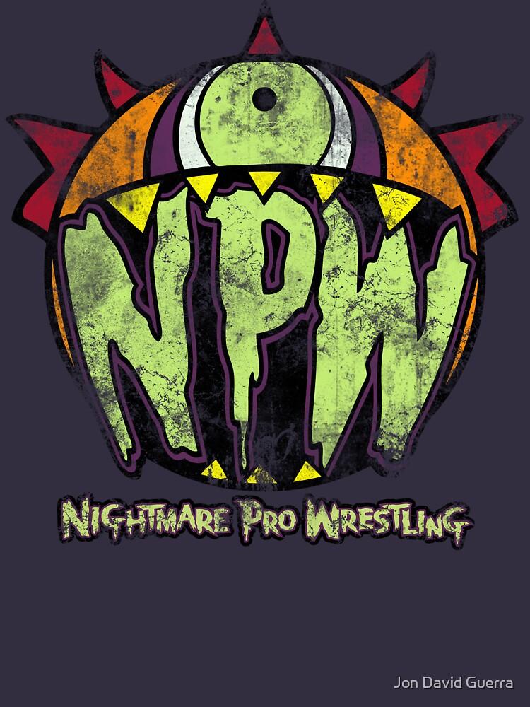 Nightmare Pro Wrestling - Vintage Tee by JonDavidGuerra