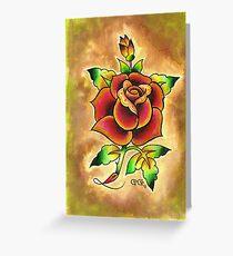 Tattoo Rose Watercolor #1 Greeting Card