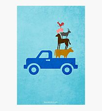 Little Blue Truck w/o Title Photographic Print