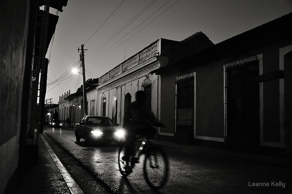 Night Rider in Trinidad de Cuba by Leanne Kelly