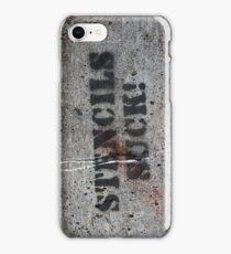 stencils suck grafitto iphone iPhone Case/Skin