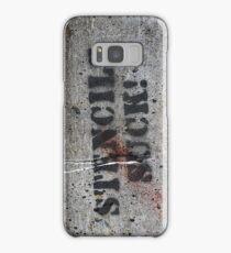 stencils suck grafitto iphone Samsung Galaxy Case/Skin