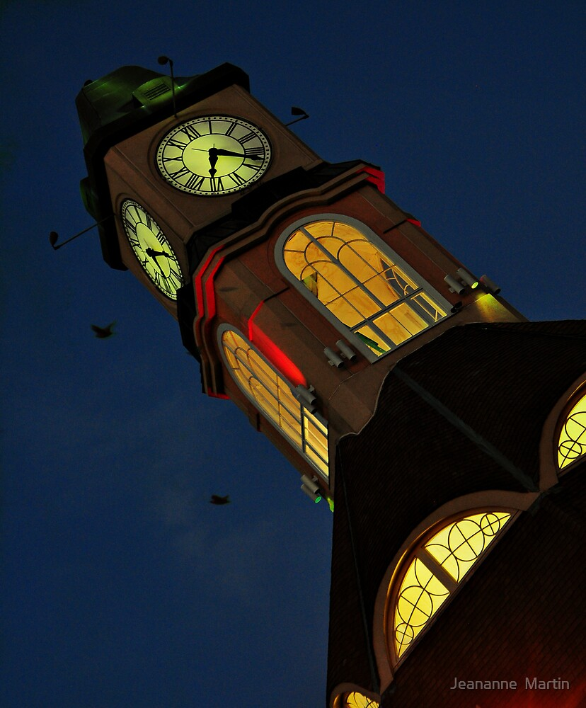 Clock Tower by Jeananne  Martin