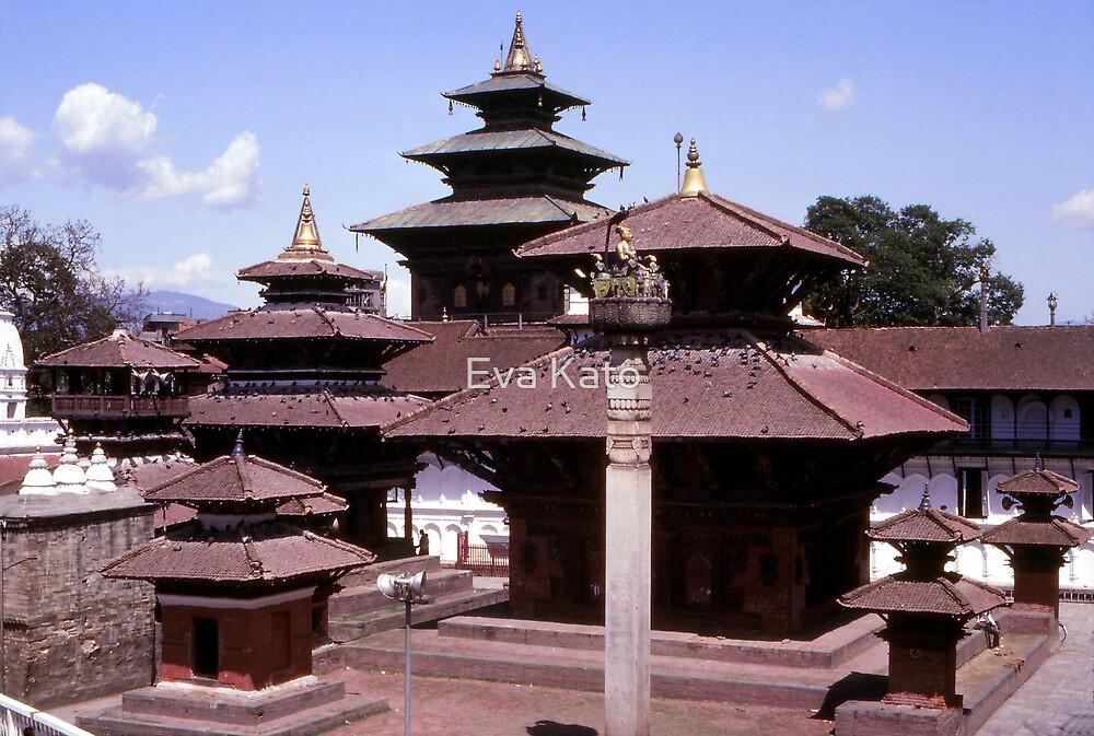 Durbar Square, Kathmandu by Eva Kato