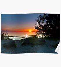 Sunset at Fisherman's Island State Park Poster