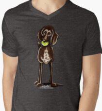 German Shorthaired Pointer Playtime Men's V-Neck T-Shirt
