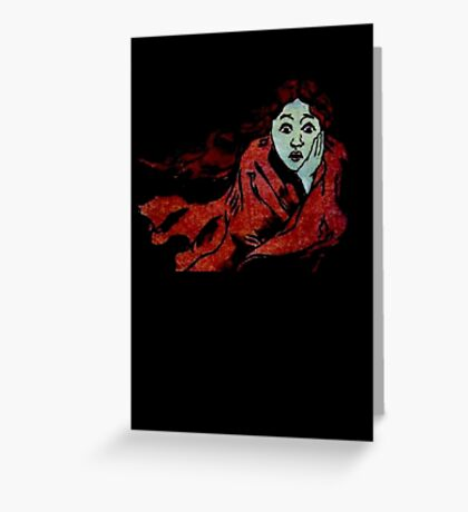 The Chase - Running Away From Fear Greeting Card