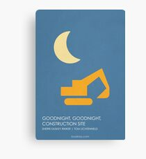 Goodnight Goodnight Construction Site Canvas Print