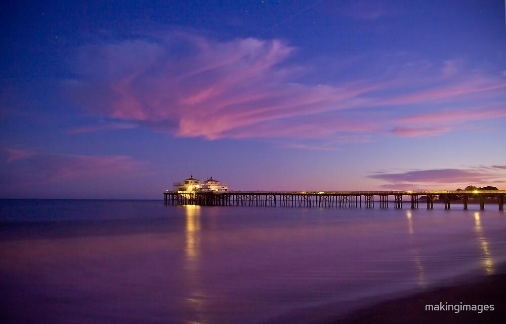 Malibu Pier at Blue Hour by makingimages