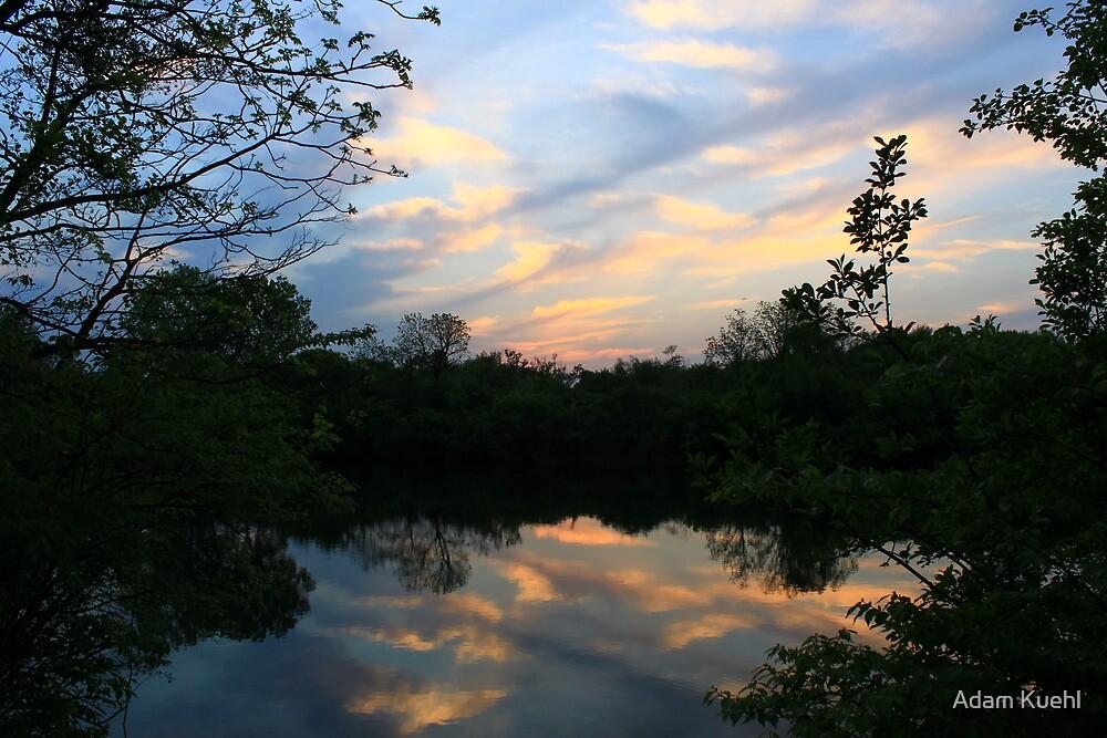 Mirrored Sunset at Hidden Lake by Adam Kuehl
