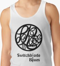 Switchblade Blues Sticker or Light Colored Tee Tank Top