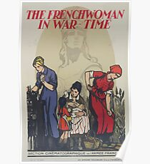 The Frenchwoman in war time Poster