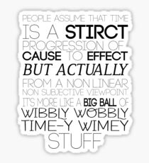 Time (Doctor Who) Sticker