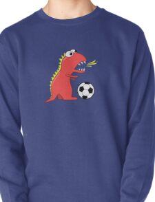 Blue Funny Cartoon Dinosaur Soccer T-Shirt