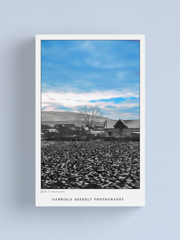 Alternate view of Village in motion Canvas Print