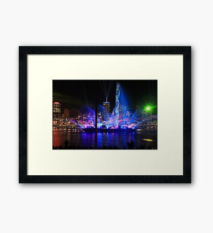 City of Lights Laser Show, Brisbane, Australia 12 Sept 2012 #2 Framed Print