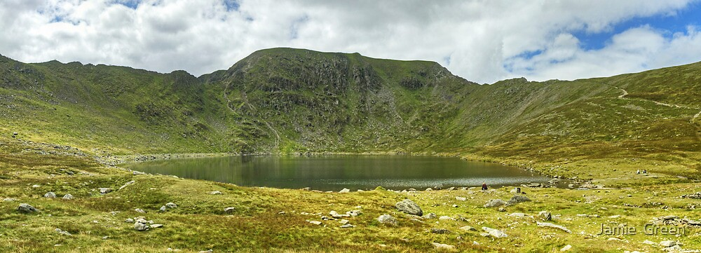 Red Tarn and Helvellyn's Edges by Jamie  Green