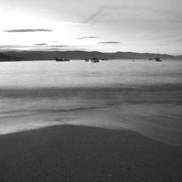 sunset. bicheno, tasmania by bodhiimages