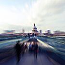 St Paul's and Millennium Bridge | Blur by babibell