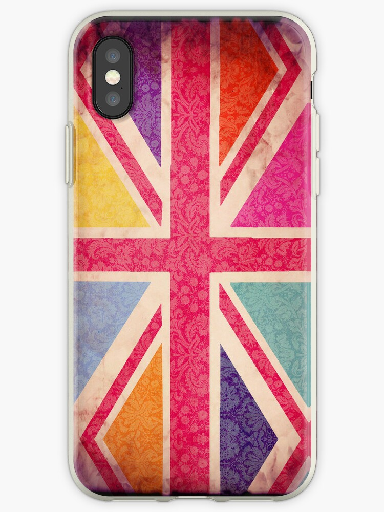 Pink Grunge Union Flag by babibell