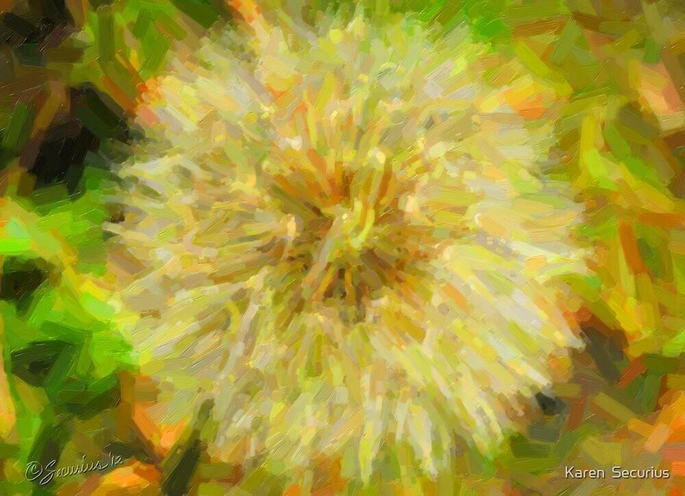 Dandilion - oil01 by Karen  Securius