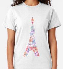 Flower Eiffel Tower Paris T-shirt classique