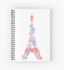 Cuaderno de espiral Flower Eiffel Tower Paris