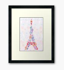 Flower Eiffel Tower Paris Framed Print