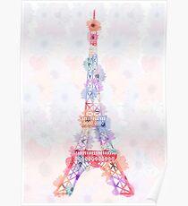 Blume Eiffelturm Paris Poster