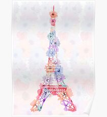 Póster Flower Eiffel Tower Paris