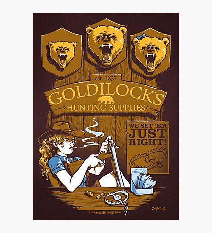 Goldilocks Hunting Supplies (Print Version) Photographic Print