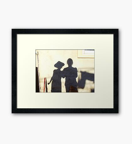 Shadow Painting Framed Print