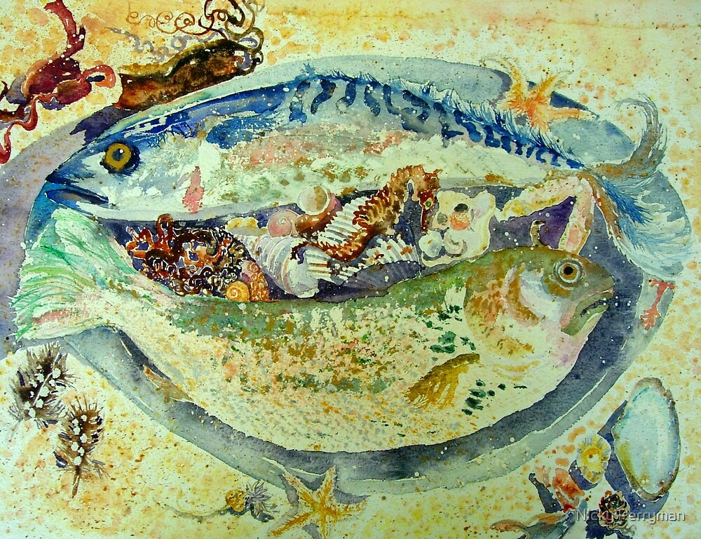 Fish Platter by Nicky Perryman