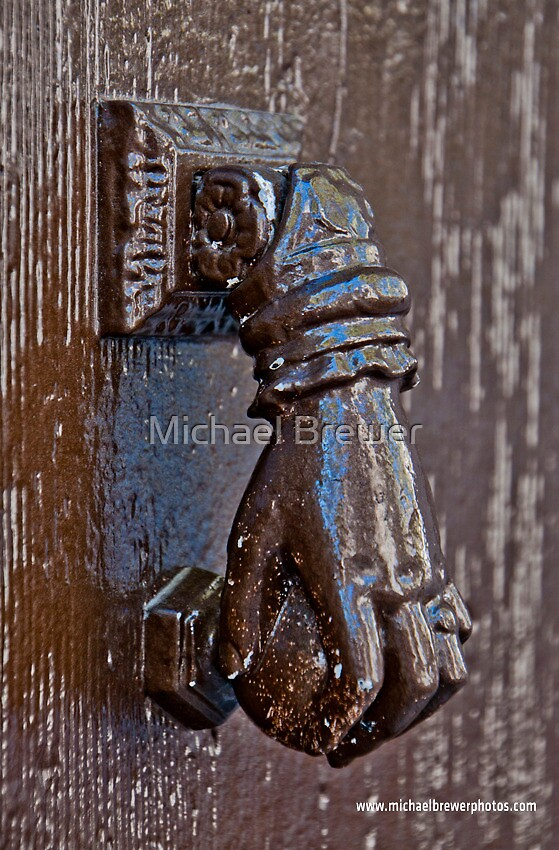 Painted metal knocker by Michael Brewer