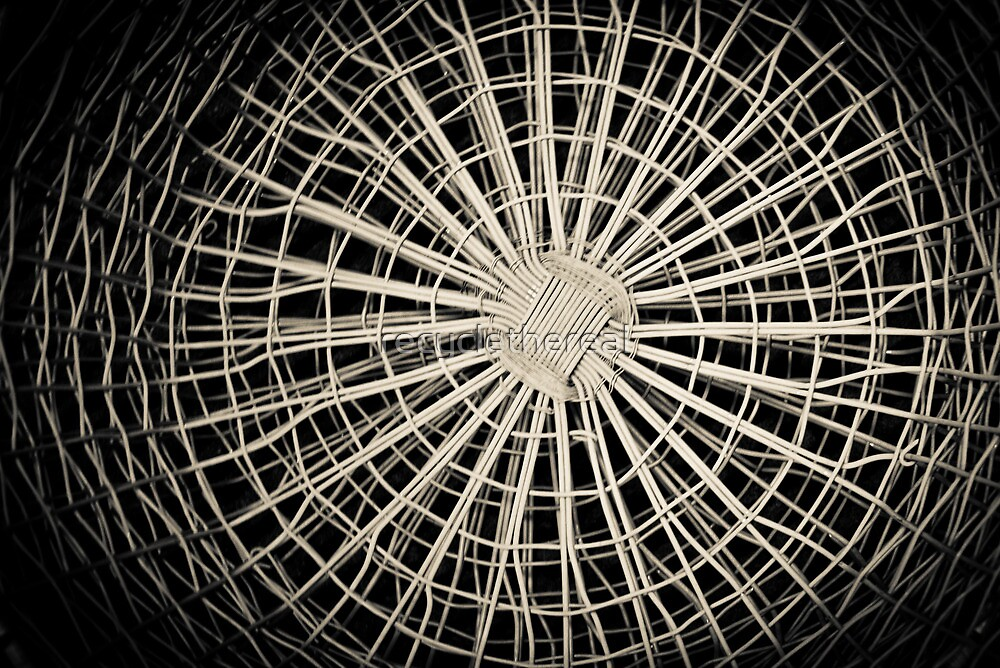 Steel Spiders Weave Steel Webs  by recyclethereal