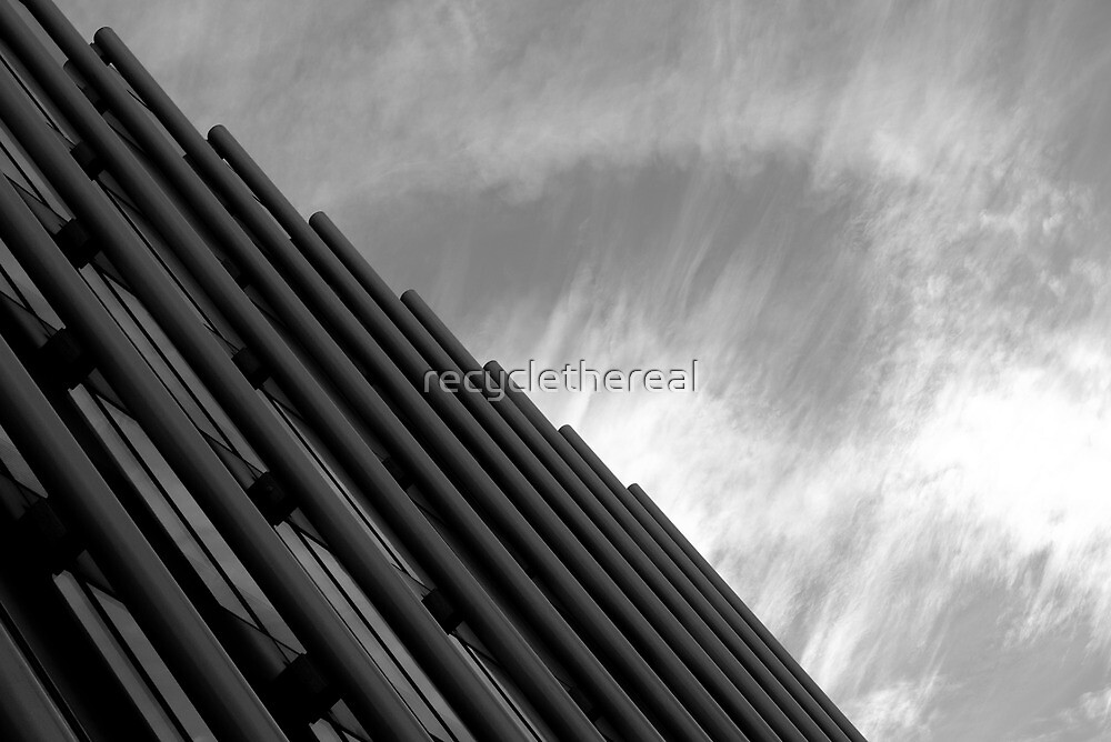 Glass, Steel, Sky  by recyclethereal