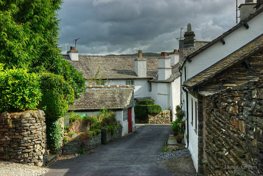 Hawkshead....Vicarage Lane by Jamie  Green
