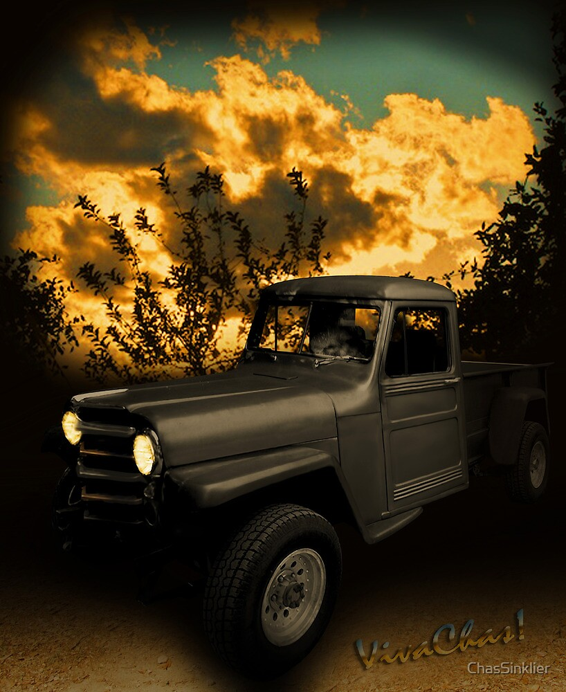 My 51 Willys Jeep Pickup Truck at Sunset by ChasSinklier