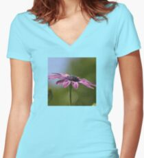 Macro Shot Of A Purple Osteospermum  Women's Fitted V-Neck T-Shirt