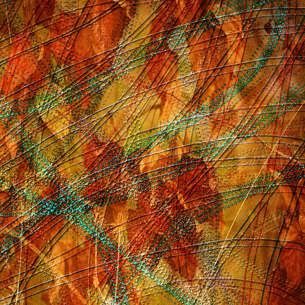 Autumn Leaves Abstract Print by bonniebruno