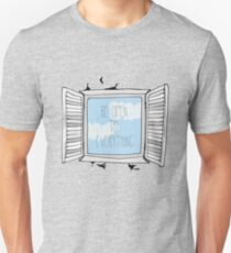 be open to everything grey T-Shirt