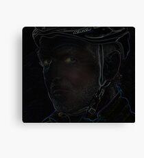 tough cyclist Canvas Print