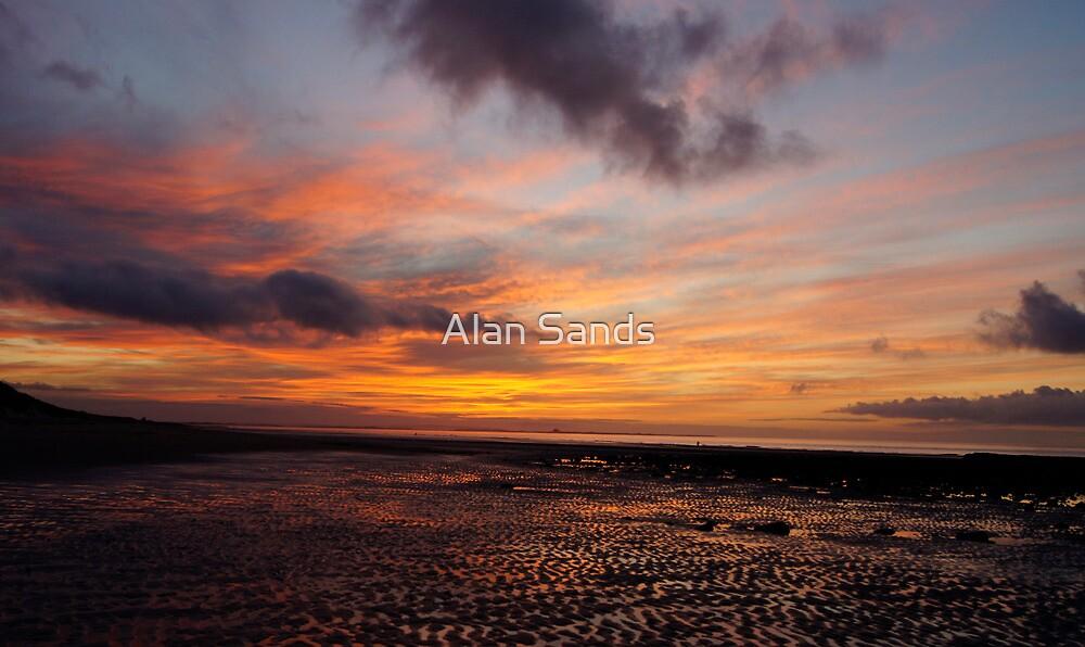 Sunset on Bamburgh beech by Alan Sands
