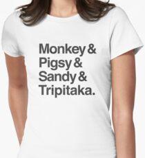 Monkey & Pigsy & Sandy & Tripitaka Women's Fitted T-Shirt