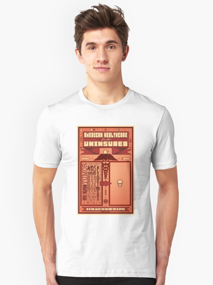 American Healthcare for the Uninsured Unisex T-Shirt Front