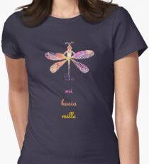 Da mi basia mille Women's Fitted T-Shirt