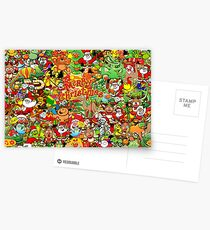 In Christmas melt into the crowd and enjoy it Postcards