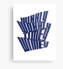 Wibbly Wobbly Timey Wimey Metal Print
