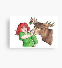 Christmas Fun with Lily and Prongs Canvas Print