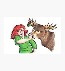 Christmas Fun with Lily and Prongs Photographic Print